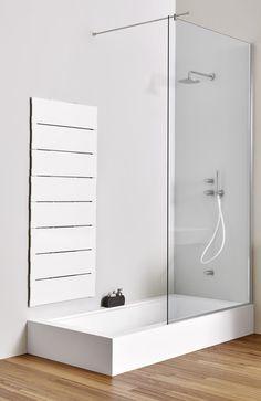 Baignoire douche encastrable / rectangulaire / en Corian® - UNICO - Rexa Design