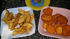 Nuggets y patatas deluxe con thermomix