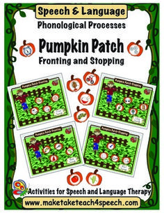 Fun fall themed activity for remediation of fronting and stopping