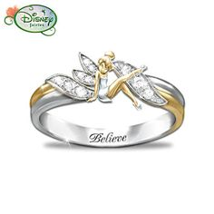 I love/hate this... Tinkerbell Engagement Ring. If I got it, I'd be pissed but also sooo happy, haha.