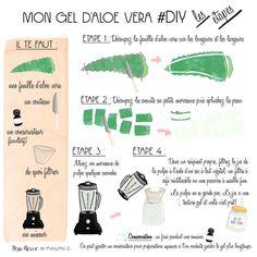 DIY : comment réaliser son gel d'aloe vera maison - Beauty is Art Diy Aloe Vera Gel, Aloe Vera For Skin, Aloe Vera Skin Care, Gel Aloe, Beauty Care, Diy Beauty, Beauty Skin, Beauty Tips, Beauty Products