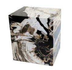 EMILIO ROBBA | COLLECTION | Accent Decor | Petrified Wood | Petrified Wood Cube