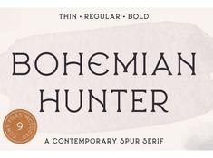 Bohemian Hunter by Fonts on Dribbble Bohemian Font, Serif Typeface, Job Opening, Branding Design, Fonts, Lettering, Mandala, Photoshop, Training