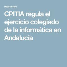 CPITIA regula el ejercicio colegiado de la informática en Andalucía