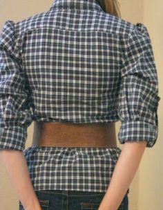 How to make a mans shirt into a lady's.