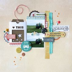 Love this Library Pocket Scrapbooking Layout - Growing up in: Faith, Love & Scrappyness: #Scrapbooking #LibraryPocket #PocketPages #Smashbook #Journaling #Photos #Stash