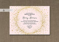 Blush Pink & Gold Glitter Bridal Shower by digibuddhaPaperie
