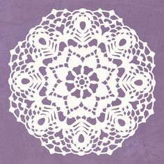 Use our Elizabeth Lace Doily Christmas Stencils to create a festive Christmas table setting with stenciled and painted tablecloths, table runners, and napkins. Your guests will swoon over the snowflak Lace Stencil, Snowflake Stencil, Stencil Wall Art, Wallpaper Stencil, Stencil Painting On Walls, Mural Wall Art, Stencil Diy, Craft Stencils, Diy Christmas Decorations For Home