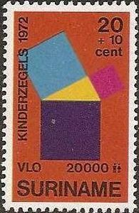 Pythagorean theorem - stamp