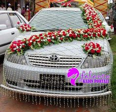 Indian Weddingscar Decorationsflowersaudicandid Wedding - Audi car decoration