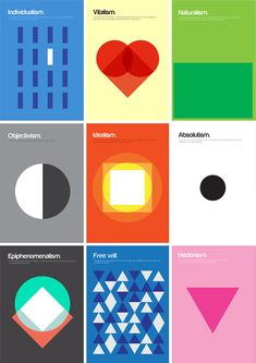 Philography: Complex Philosophy Meets Graphic Simplicity - The bigger the idea, the harder to understand, let alone distill. That is the idea and challenge  behind this growing set of graphic designs that seek to capture big ideas in simple shapes and single-sentence explanations.