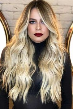 Creative Blonde Such A Beautiful Hair Color Ideas 2019 Haircut For Square Face, Square Face Hairstyles, Face Shape Hairstyles, Cool Hairstyles, Hairstyles Haircuts, Hairstyles Pictures, Beautiful Hair Color, Brown Blonde Hair, Long Wavy Hair