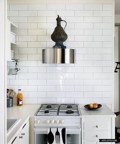 Slim living. Compact kitchen in a studio flat by decorator Jimmy Schönning