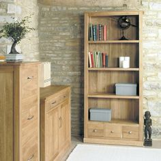 Mobel Solid Oak Large 3 Drawer Bookcase -  - Bookcase - Baumhaus - Space & Shape - 1