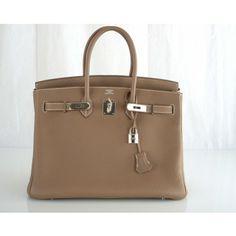 Hermès Etoupe Togo 35cm Birkin Bag - Hermès - Brands   Portero Luxury