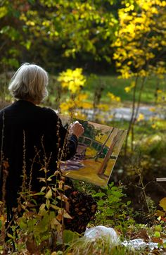Fall scene of Minnehaha Creek along Grand Rounds Scenic Byway (photo… - Canvas Painting Look Vintage, Simple Pleasures, Plein Air, Art Studios, Artist At Work, Serenity, In This Moment, Beautiful, Park