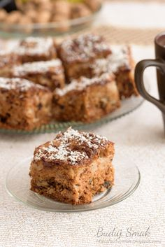 Apple Cake Recipes, Polish Recipes, Pumpkin Cheesecake, Cake Cookies, Yummy Cakes, Banana Bread, Food And Drink, Cooking Recipes, Baking