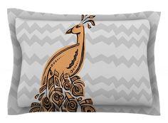 Peacock by Brienne Jepkema Cotton Pillow Sham