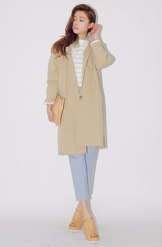 [STYLENANDA] LONG TRENCH COAT