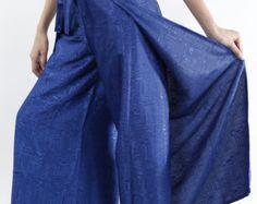 Blue Womens Palazzo Pants/Plus size Pants/Wide Legged Pant/Wrap Pants/Harem Pants/Yoga pants/Hippie pants/Boho Pants/Gypsy pants/Trousers