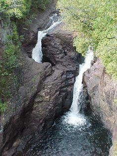 Grand Marais, MN; the Devil's Kettle waterfall and Brule River, Judge C.R. Magney State Park