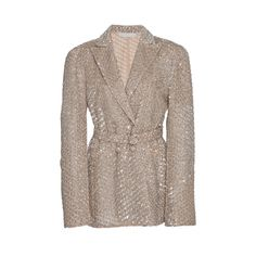 Jonathan Simkhai Dimensional Sequin Tailored Jacket (121.514.105 IDR) ❤ liked on Polyvore featuring outerwear, jackets, neutral, double breasted jacket, embellished jackets, tailored jacket, jonathan simkhai and sequin jackets