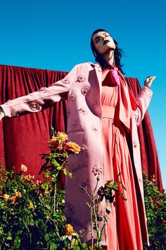 """""""Artful Blooms"""" Meghan Collison for Vogue Taiwan February 2017"""