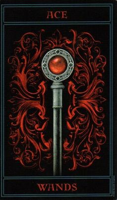 The Gothic Tarot: Ace of Wands