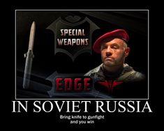 Deadliest Warrior is Delicious by on DeviantArt Spetsnaz Gru, Throwing Tomahawk, Ballistic Knife, Deadliest Warrior, Seal Face, In Soviet Russia, Penal Colony, Green Beret, Concept Weapons