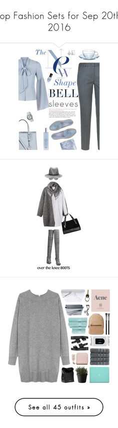 """Top Fashion Sets for Sep 20th, 2016"" by polyvore ❤ liked on Polyvore featuring Related, Michael Kors, Weekend Max Mara, Santoni, Swiza, Deborah Lippmann, Hario, bellsleeves, Toast and Acne Studios"