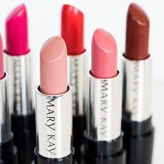 Listo para conocer a tu partido de mate? Nuevo Mary Kay ® gel semi-Matte lipstick viene en ocho fabulosos tonos. Lista para conquistas con tus hermosos labios ?