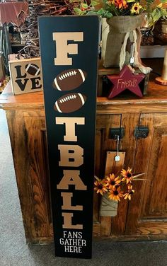 Your place to buy and sell all things handmade - Football Football Signs, Football Crafts, Football Gift, Football Season, Football Banquet, Football Decor, Football Parties, Patriots Football, Alabama Football