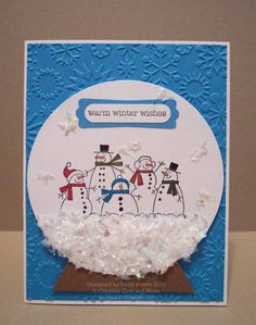 Snowmen Snowglobe CC by hbrown - Cards and Paper Crafts at Splitcoaststampers