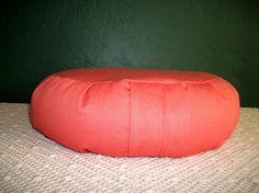 Zafu Meditation Cushion in Papaya colored Diversitex by ZafuChi