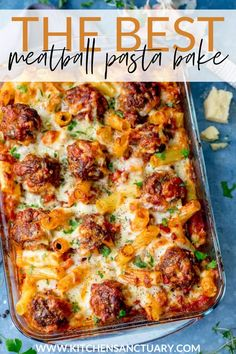 This the best pasta bake with meatballs! If you're looking for a meal that the whole family will demolish, this Smoky Meatball Pasta Bake from Ciara at My Fussy Eater is just the thing! #meatballs #pastabake #meatballbake #familymeal #beef #mincedbeef #groundbeef #meatballrecipe #myfussyeater #smokymeatballs