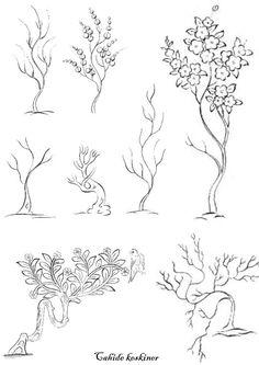Ağaç motifleri - Cahide Keskiner