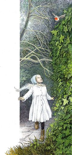 Good morning! Isn't everything nice - The Secret Garden, A watercolour Illustration by Inga Moore
