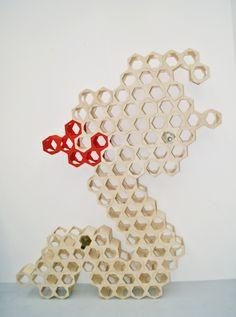 Honey Comb (wine rack) on Behance