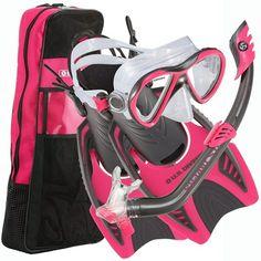US Divers Kids Flare Mask, Dry Snorkel, Trigger Fins
