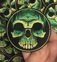 Voodoo Skull Variant Green Patch Detail