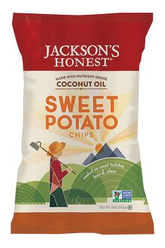 Jackson's Honest Sweet Potato Chips - made with coconut oil!