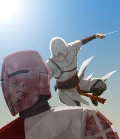 Jumpkill by doubleleaf.deviantart.com #fanart Assassin's Creed - Altair