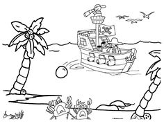 30 Best Pirate Coloring Pages Images Peter Pan Coloring Pages