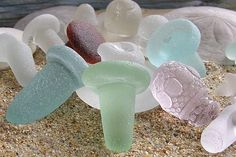 Bottle stoppers sea glass