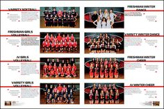Carry theme with groups shots and team photos. These pages still need to have some aspect of the theme carried out—visually, verbally or both. Yearbook Pages, Yearbook Spreads, Yearbook Covers, Yearbook Layouts, Yearbook Design, Yearbook Ideas, Yearbook Theme, Oak Grove High School, Dance Team Photos