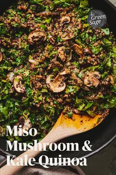 The Miso Mushroom Quinoa is very straightforward to make and doesn't involve too many ingredients. It's also a great dish on its own or served alongside other dishes, let's say, when you're entertaining friends for dinner.