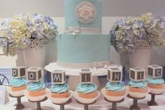 Blue & Gray Elephant Baby Shower Party Ideas | Photo 3 of 16 | Catch My Party