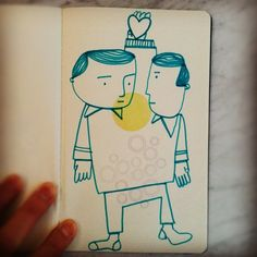 Looking for Love! Interior illustration for the Sketch Book Project!
