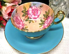 Absolutely love this blue teacup and saucer!