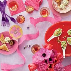 Bachelorette Party | http://www.rachaelraymag.com/easy-party-ideas/great-get-togethers/theme-party-menus/bachelorette-party